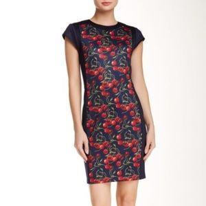 $279 Ted Baker Luski Sheath Dress Cherry Print
